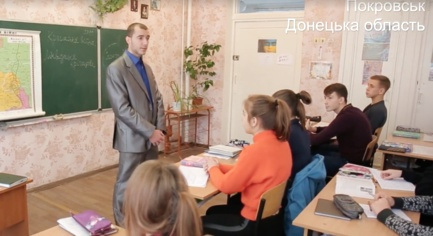 VIDEO. ATO Fighter Returned from the Front and Teaches History to Children in the Donetsk region