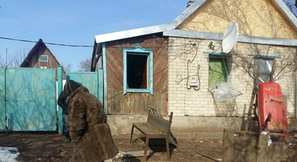 PHOTOS. Militants Opened Fire on Houses of Civilians in Donbas
