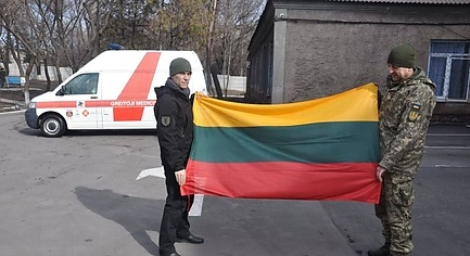 PHOTOS. Lithuanian Volunteers Handed Over Reanimobile and Equipment for Mobile Hospital in Donbas