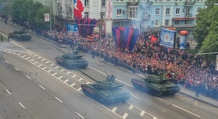 VIDEO. Back in the USSR - Militants Held a Military Parade in Occupied Donetsk, Terrorists Were Called Heroes