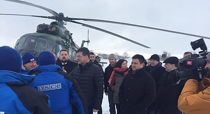 PHOTOS. The New OSCE Head Arrived to Donbas for the First Time